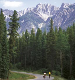 Biking in Banff National Park